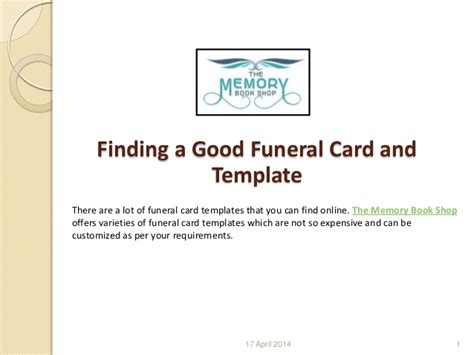 is there a post card template on microsoft powerpoint finding a funeral card and template
