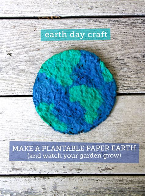 How To Make Paper Earth - earth day craft for plantable paper earth