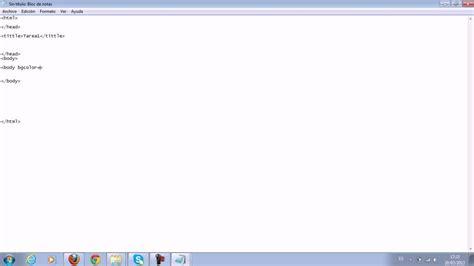 imagenes html bloc de notas hoja de vida html mediante un bloc de notas youtube