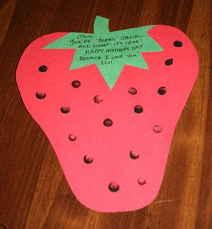 strawberry crafts for s day strawberry card craft all network
