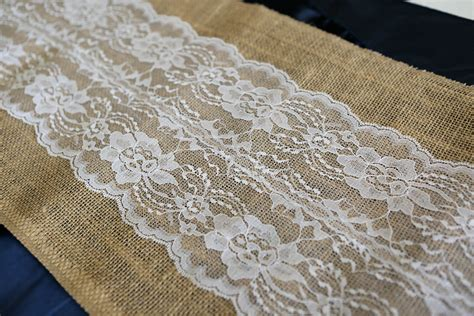 burlap table runner with lace burlap and lace burlapfabric com burlap fabric for