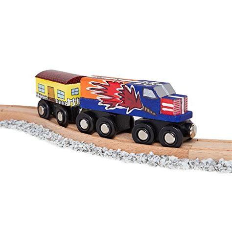 chuggington brio orbrium toys 8 unpainted train cars for wooden railway