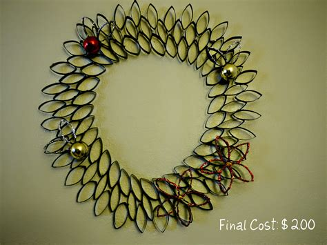 toilet paper roll wreath craft inexpensive craft toilet paper roll wreath cost