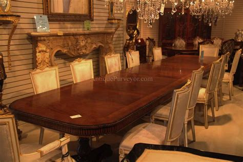 dining table for 16 regency style pedestal dining table opens to 16