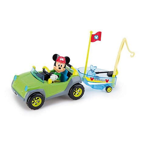 mickey mouse boat mickey mouse clubhouse mickey 4x4 and boat 181885