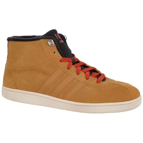 Sepatu Adidas Neo Sneaker High Suede adidas neo mens court mid suede high tops shoes trainers wheat ebay