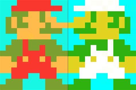 pixelated mario characters mario and luigi pixelated by worldwideimage on deviantart