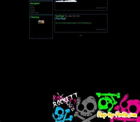 themes tumblr rock punk rock tumblr themes pimp my profile com