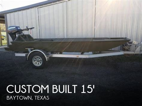aluminum fishing boats for sale in my area sold custom built aluminum 15 boat in baytown tx 094727