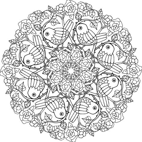 bird mandala coloring pages birds mandala coloring page coloring home