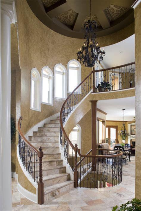 tuscan villa mediterranean staircase indianapolis  karla shone designs