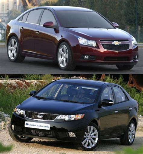 Kia Forte Vs Kia Soul Kia Forte Spectra Vs Daewoo Lacetti Chevrolet Cruze Kia