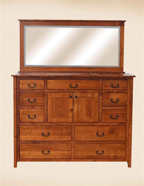 Country Mission Mule Dresser Mirror - oakwood furniture amish furniture in daytona