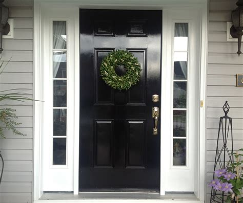 chinoiserie chic the chinoiserie front door glossy black - Black Exterior Doors