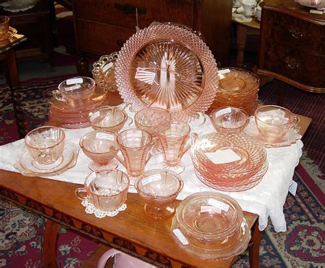 depression glass colors pink depression glass patterns prices reproductions