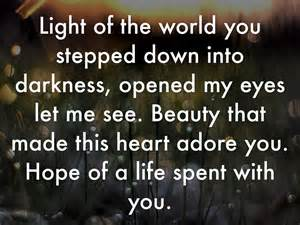 Light Of The World You Stepped Into Darkness Lyrics by Here I Am To Worship By Madrigal