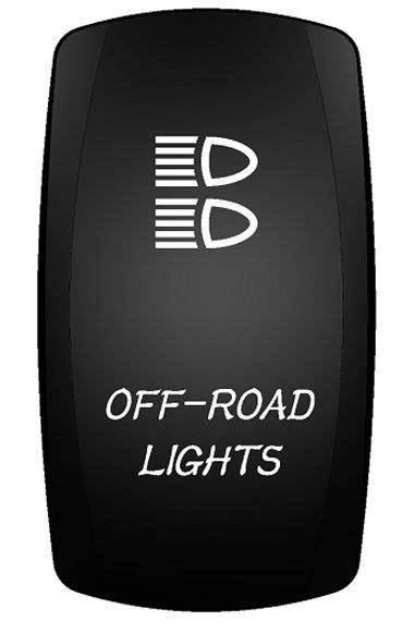 RV AUTO TRAILER OFF-ROAD LIGHTS ROCKER SWITCH (ON)-OFF