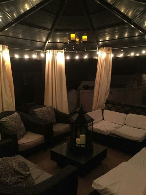 outdoor gazebo lighting set 25 best ideas about patio gazebo on