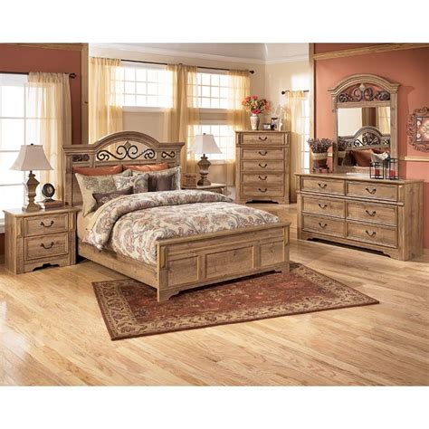 ashley furniture signature design bedroom set whimbrel forge panel bedroom set signature design by