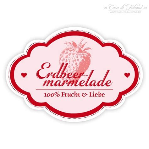 Etiketten Selber Drucken Wasserfest by Aufkleber Nostalgie Erdbeere Casa Di Falcone