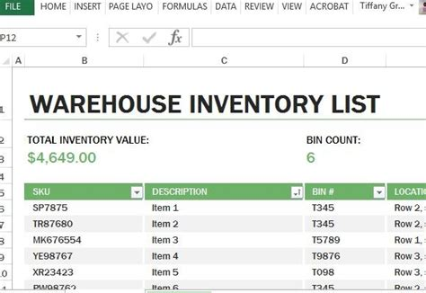 warehouse layout template excel warehouse inventory excel template powerpoint presentation