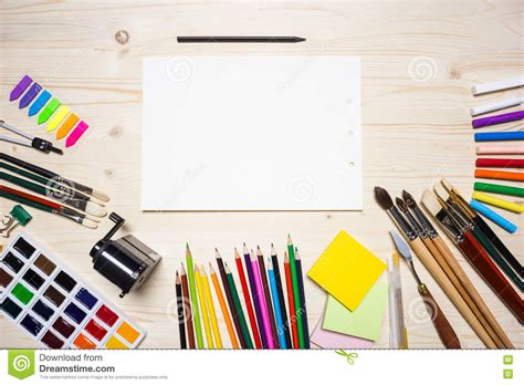 best drawing tool drawing tools and paper stock image image of empty