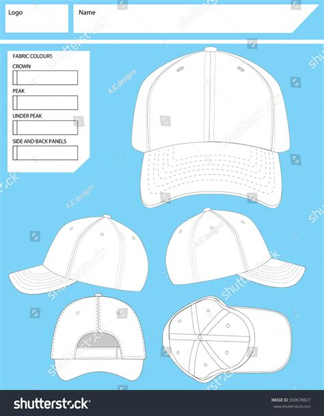 blank hat template blank hat template stock vector illustration 300678827