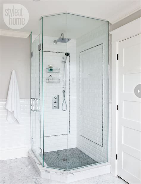 corner shower transitional bathroom style at home