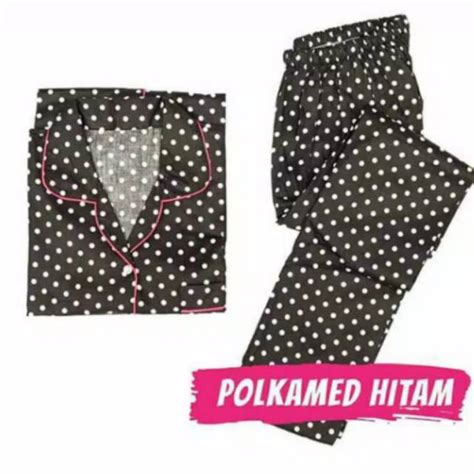 Piyama Hp Keropi Katun Jepang ay pajamas polkadot hitam katun jepang hp cp pp ld 104
