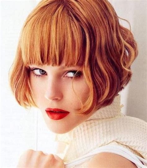 medium blunt hairstyles with bangs stylish short bob hairstyle with blunt bangs for thick