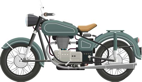 Classic Motorrad by Clipart Flat Shaded Classic Motorcycle
