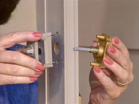 How To Install A Lock On A Door by How To Install A Door From A Kit How Tos Diy