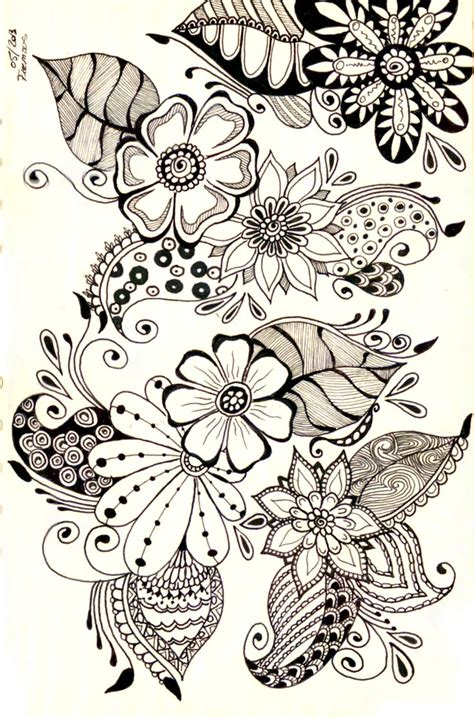 doodle flowers 1000 images about zentangle zendoodles doodling on