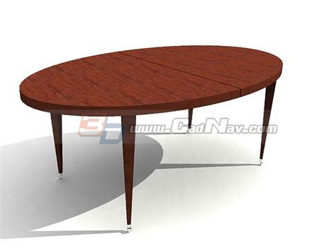 oval wooden dining table 3d model 3dmax 3ds files free