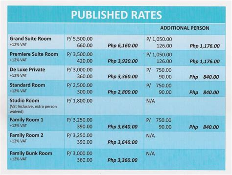 Room Rate Alejandra Hotel Room Rates