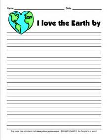 earth day worksheets earth day writing prompt