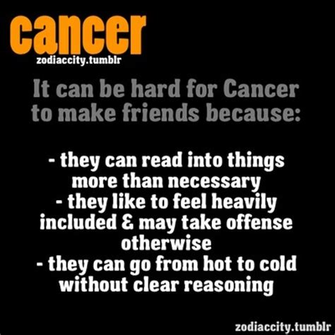 cancer personality traits male zodiac cancer quotes quotesgram