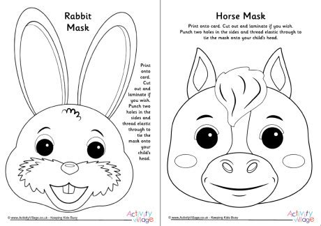 Chinese New Year Animal Masks Templates