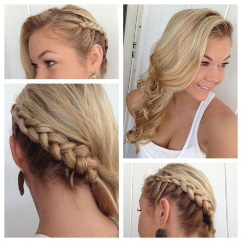 one side braid hairstyles side dutch braid to the back into classic curls youtube