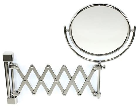 extendable magnifying bathroom mirror wall mounted brass extendable double face 3x 5x 5xop or