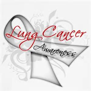 what color ribbon is for lung cancer 460px