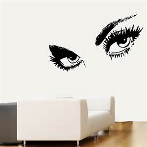 Eye Wall Stickers Make Up Wall Decals Model Eyes Fashion Girl By