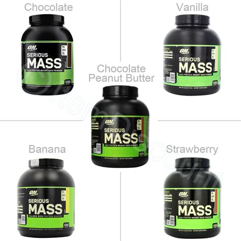 Whey Mass Optimum Nutrition 6 Lb Serious Mass Weight Gainer Whey