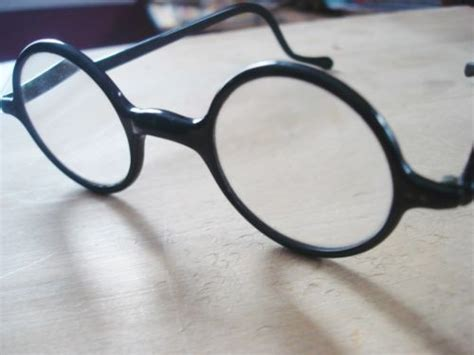 vintage antique 20 s eyeglasses black plastic