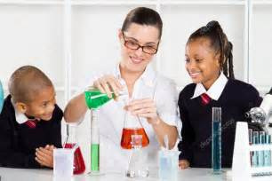 Teaching In Science Teaching Students Stock Photo