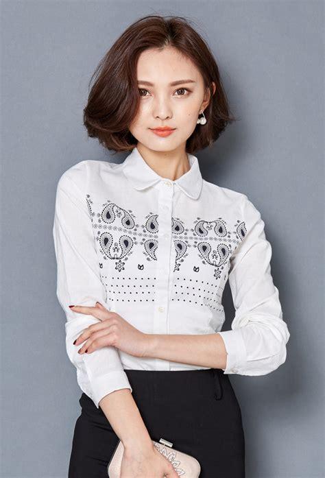 Blouse Longsleeve Ethnic Verzirta ethnic style sleeve doll collar blouse lyk011302wi