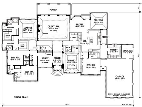 sunroom floor plans one story plan with possibilities i like the kitchen with