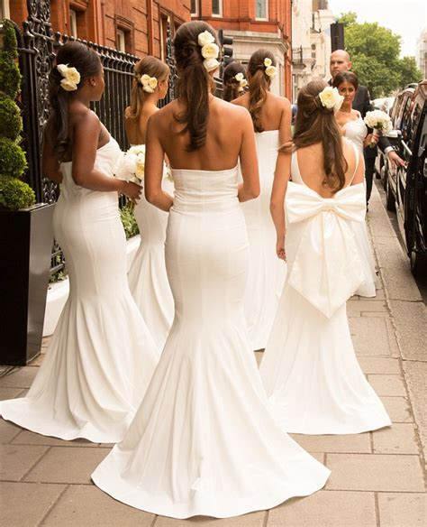 Wedding Hairstyles Based On Dress by Rochelle Humes Is Bridesmaid To Georgina Dorsett As She