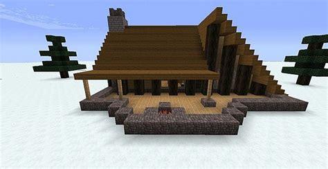 Cottage Livingroom winter cabin minecraft project