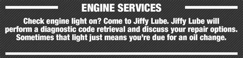 jiffy lube check engine engine service jiffy lube knoxville